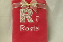 Personalised Blankets / A selection of the beautiful blankets available at www.mycutebabygifts.co.uk