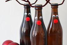 botellas de navidad