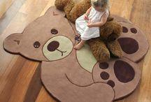 Teddy Bear Nursery Rugs / This teddy bear nursery rug is so adorable!