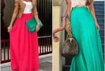 Maxi Skirts / I love Maxi's - and love any new ideas of how to wear them!