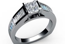 Channel set Diamond Engagement Rings