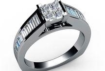 Channel set Diamond Engagement Rings