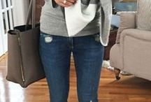 grey ankle boots outfit