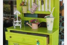 Istutuspöytä vihreä