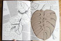 sgkunst ► Skizzenbuch / Ein Skizzenbuch aus Zeitungscollagen, Pflanzenskizzen und alles, was mir sonst so unter den Stift kommt.