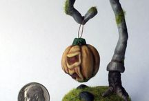 The work of my son - the artist Roman Moiseenko (he 14 years old) / Handmade miniature from polymer clay and mixed media