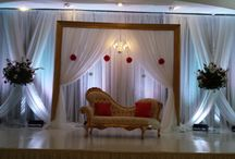 Gold Picture Frame Stage Backdrop / Indian Wedding Backdrop
