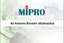 MIPRO antenna booster application / Usage of MIPRO antenna booster systems. Hungarian version.