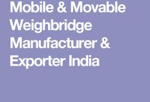 Mobile & Movable Weighbridge Manufacturer & Exporter India
