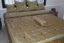 bed covers - personal / part of my production of interior furnishing .My two daughters Sawsan and Solafa share with me all our activity