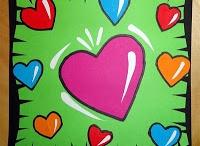 knutselen/tekenen valentijn, liefde