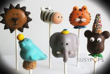Circus cake pops by SUSYPOPS  / Circus inspired cake pops #Circus #Cake #Cakepops