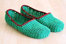 Sapatos  e meias de crochet e tricô para adultos