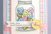 Created cards....hearts / by Rhonda Potts