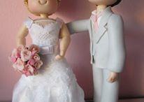 Noivinhos Topo de Bolo / Noivinhos totpo de Bolo de Casamento
