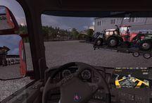 Euro Truck Simulator 2 - Gepszallitas / Az egyik külső kiegészítő használatával gépeket is lehet szállítani. Emberes feladat..