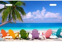 Beach Scene License Plates