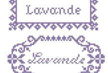 Keresztszemes minták / Levendula
