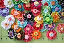 Цветы и другие украшения из ткани