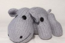 Hippo / Knitting patterns , and ideas for  creativity / by Claire Fairall Designs