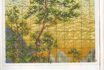 Huis/landschap schilderijen