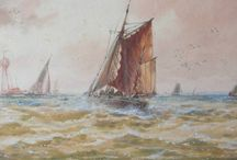 Thomas Bush Hardy (1842 - 1897) / T.B. Hardy was a marine painter and watercolourist, born in Sheffield he travelled on the continent, particularly Holland and Italy. In 1884 he was elected a full member of the Royal Society of British Artists... http://www.zaidan.ca/Art_Gallery/Hardy/Hardy_Thomas_Bush.htm