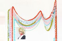 * GARLANDs / Garlands, buntings and streamers. Strings of things. Mostly horizontal hangings.  / by Debidee