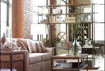 Лофт дизайн интерьера дома, квартиры в стиле, фото / Оформление гостиной, кухни, спальни, ванной комнаты в стиле #Лофт.