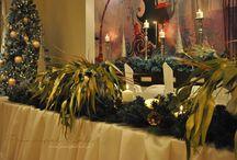 ✳CHRISTMAS WEDDING DINNER 2015✳ / Gold & Ivory Wedding Christmas Dinner Deco