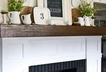 Mantel Inspiration / Inspiring mantel decor, great fireplaces and beautiful hearths