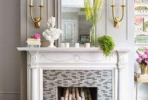 Mantles / mantles, fireplaces, antique fireplaces, country living, kamine, kaminkonsolen, landhausstil