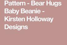 Bear hugs beanie