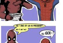 deadpool love spiderman