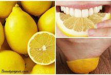 Teeth Whiting with lemons