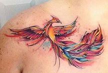 Anka kuşu dövmeleri