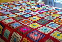 Cobertor de crochê da avó