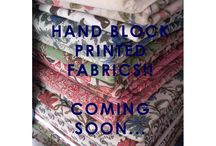 Hand block printed fabrics / A collection of hand block printed fabric designs by Mohari.