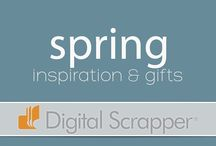 Seasonal Inspiration - Spring / Get inspiration for Easter, spring and all things new with this inspiration board from Digital Scrapper.