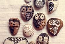 Crafts ~ stones / Cactuses, zentangle and tutorials.