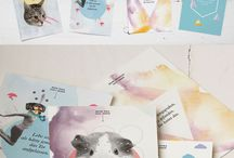 Postkarten / Schöne illustrierte Postkarten zum verschicken an Familie und Freunde zum Geburtstag oder einfach nur mal so, um ihnen ein Strahlen auf das Gesicht zu zaubern.