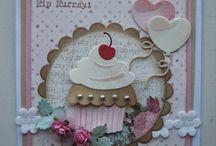 Kaarten met cupcakes