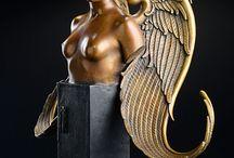 Bronze sculptures: Michael Parkes / www.artifactsgallery.com