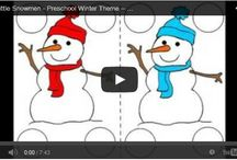 Free Snowman Theme / Six Little Snowman Rhyme for a preschool Snow theme.This video is a fun way to capture your child's attention and to help him focus on learning the numbers 1, 2, 3, 4, 5 and 6.