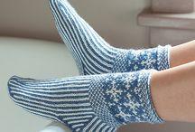 twined knitting / twijnend breien / tvåändsstickning