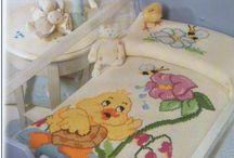 Colchas bordadas para bebes