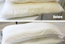 travesseiros amarelados