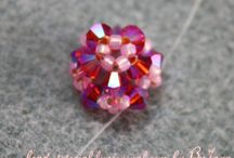 Beaded ball and cube