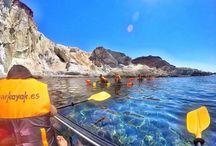 Clear Kayak San Jose, Almeria / Erasmus students Clear Kayak trip in San Jose