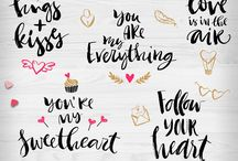Hand lettering / hand lettering, typography, modern calligraphy