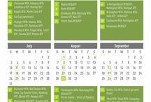 2016 Pro Tennis Calendar / We've gathered all the biggest tennis tournaments happening around the globe in one place. Print our calendar out, download or link to it via the original post on Tennis Identity.